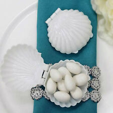 12 pcs White Mini Sea Shells Mermaid Party Favor Holders For Wedding Party Sale
