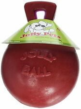 (2 Pack) Jolly Pets Tug-N-Toss 4.5-inch Red Rubber Ball with Handle Toy for Dogs