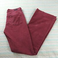 Citizens of Humanity Burgundy Corduroy Stretch Pants Sz 28 High Rise Wide Leg