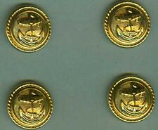 Knopf:Marine,19 mm,vergoldet 4 Stück