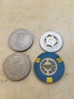 Lot of gaming tokens $1 Vintage 1979 Caesars Palace Golden Nugget Penguins