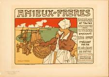 MAITRES DE L'AFFICHE ORIGINAL POSTER VINTAGE AMIEUX FRERES BY FAY 1896