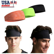 Men Hair Head Band Sweatband Headband Stretch Mens Wrap Elastic Sports Thin Gym