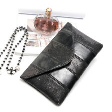 Women Ladies Fashion Evening Party Sequins Clutch Envelope Bag Dress Up Handbag
