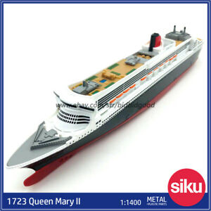 Queen Mary 2 Alloy Diecast Ships Model Siku 1:1400 Kid Collect Gift Toys 1723