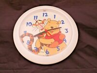 """Winnie the Pooh and Tigger Disney Battery Operated Wall Clock, Diameter 9"""""""