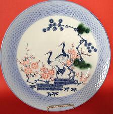 ARITA CENTROTAVOLA caricatore-Blu intrecciate RIM-Gru dipinti a mano-Giappone