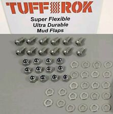 Land Rover Defender 90 td5 Mud Flap fixings set in Stainless Steel. 12 qty