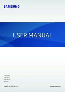 SAMSUNG GALAXY SM-T720 SM-T725 PRINTED INSTRUCTION MANUAL USER GUIDE 134 PAGE