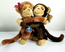 1975 R. Dakin & Co Monkey Around Hugging Monkeys love collectible plush toy