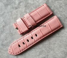 Genuine OEM Officine Panerai 22/20mm Pink Alligator Tang Buckle Strap Size XS