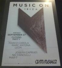 More details for music on 2013 marco carola @ amnesia club - ibiza club posters - dj techno music