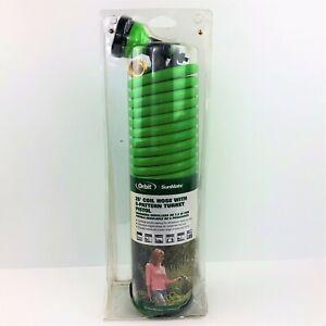 Orbit Irrigation 25' Coil Garden Hose & 6-Pattern Turret Nozzle Sprayer 27862