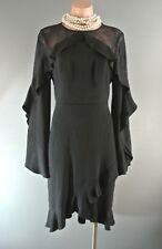 BCBG MAXAZRIA Black Cocktail Dress Ruffled Lace Layered 4 Formal Attire