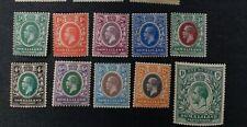 SOMALILAND 1912 0.5a to 1r SG 60 - 69 Sc 51 - 60 MLH
