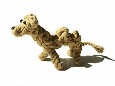 Reelok Brown Camel Molar Cotton Knot Pet Dog Chewing Rope Toy Clean Teeth Fun