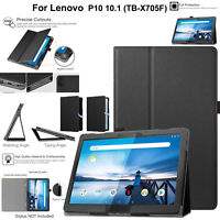 "Leather Case For Lenovo Tab P10 10.1"" TB-X705F Magnetic Stand Book Smart Cover"