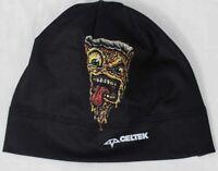 New Celtek Kids Youth Helmet Liner Beanie Pizza Black