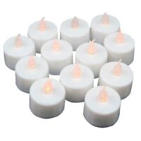 12 pcs LED Flickering Tea Lights Battery Operated Candles for Wedding Party T1C4