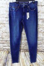 Calvin Klein Women's Blue Denim Jeans CURVY SKINNY 32 x 32 Dark Wash NEW