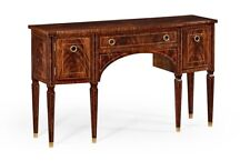 Regency Flame Mahogany Inlaid Bowfront Sideboard Server Buffet Bench Made New