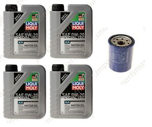 GENUINE Honda Oil Filter & Lubro Moly 0W-20 Synthetic Oil 4 qts