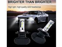 H4 9003 LED LAMPADINE LUCI COPPIA FARI AUTO CANBUS 100000LM 6000K HID XENON KIT