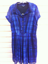 STYLISH CITY CHIC PURPLE CHECKED LINED DRESS SIZE: S GC