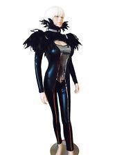 Silver sequins  Catsuit Jumpsuit bodysuit Long Sleeves / S,L,XL,2XL
