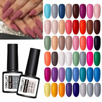 LEMOOC Pure Matte Effect Vernis Gel UV Soak Off UV LED Color Polish Top Coat 8ml