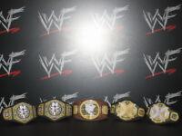 5 x Custom NXT WWF WWE Title Belts For Hasbro Mattel Retro Wrestling Figures ECW