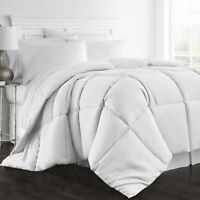 King Size Oversized Soft Fluffy Bedding Goose Down Feather Comforter White HOTEL