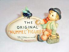 HUMMEL #187 MERRY WANDERER with BEE TMK-4 FIGURINE GOEBEL DEALER PLAQUE SIGN!