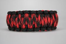 550 Paracord Survival Bracelet King Cobra Black/Red/Black Widow Camping Tactical