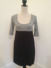Miso Black and White Stripe Monochrome Stretch Dress. Size 8. BNWT