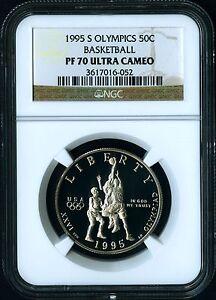 1995 S 1996 Atlanta Olympics Basketball Half $ Coin NGC PF 70 ULTRA CAMEO PF70