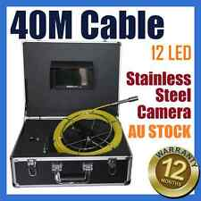 40M Snake Cable Under Water Sewer Drain Pipe Wall Inspection Camera