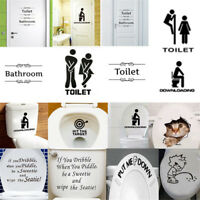 New Toilet Seat Wall Sticker Vinyl Art Removable Bathroom Decals Decoration DIY