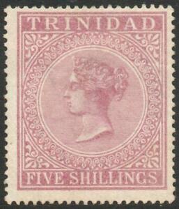 TRINIDAD: 1894 - Sg 113 - 5/- Maroon Average Mounted Mint Example (39278)