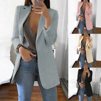 2019 Women Fashion Slim Casual Business Blazer Suit Jacket Coat Outwear New