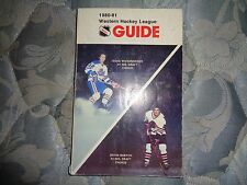 1980-81 WESTERN HOCKEY LEAGUE MEDIA GUIDE 1980 1981 WHL Yearbook Program Book AD