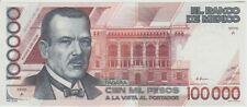 Mexico Plutarco Elias Calles $100,000 pesos Bank note 1988
