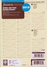 Filofax A5 Cotton Cream 2019 Kalender Einlage 1Woche/2Seiten 5-sprachig 19-68513