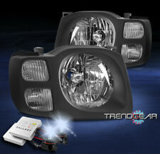 FOR 2002 2003 2004 XTERRA REPLACEMENT HEADLIGHTS HEADLAMPS BLACK W/8K XENON HID