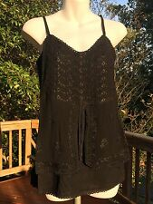 Fits S-M New/_Gorgeous/_Peasant Boho/_Embroidered Beaded Dress/_Aqua/_Size Free