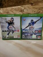 Madden NFL 15,Madden NFL 16 and Madden NFL 17 for Xbox One Lot of 3 Games