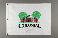 Colonial Golf Club Embroidered Flag Ft Worth PGA Signed by Golfer Russell Knox