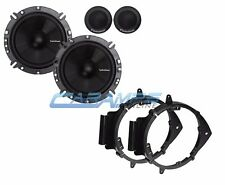 "NEW ROCKFORD FOSGATE 6.5"" CAR TRUCK STEREO SPEAKERS W/ DOOR MOUNTING BRACKETS"