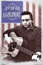 JOHNNY CASH - AMERICAN FLAG POSTER - 22x34 - MUSIC 17767