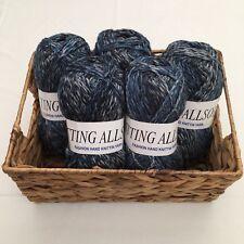 Knitting Allsorts Blue Multi Chunky Hand Knitting Yarn